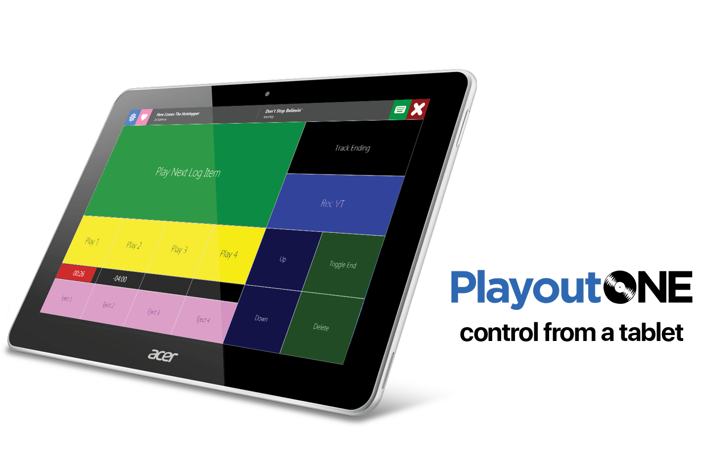Control PlayoutONE from a Tablet