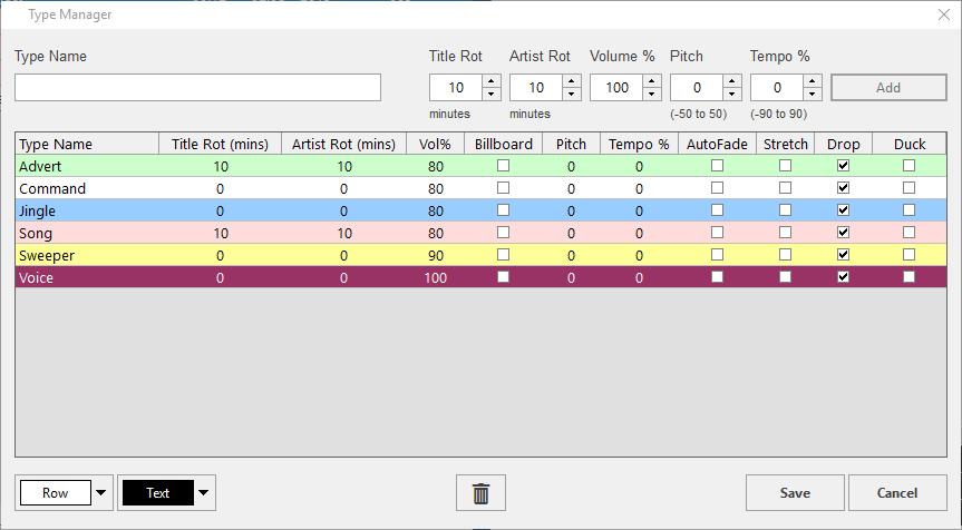PlayoutONE Type Manager