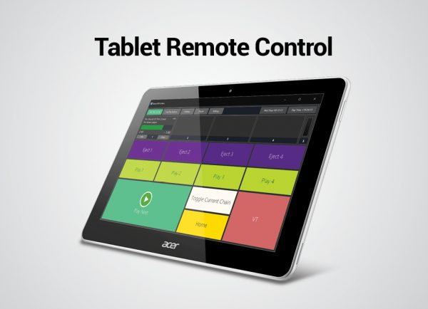 Tablet Remote Control - PlayoutONE Music Automation