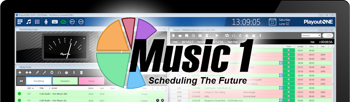 PlayoutONE and Music1 Scheduling