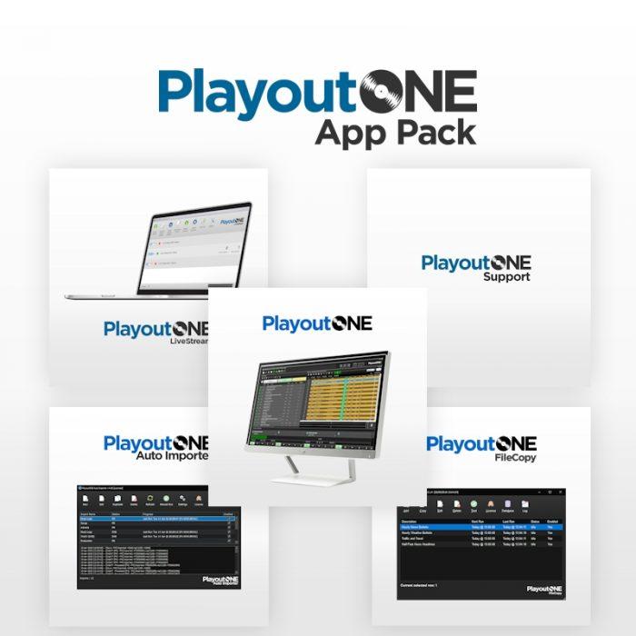 PlayoutONE App Pack including PlayoutONE