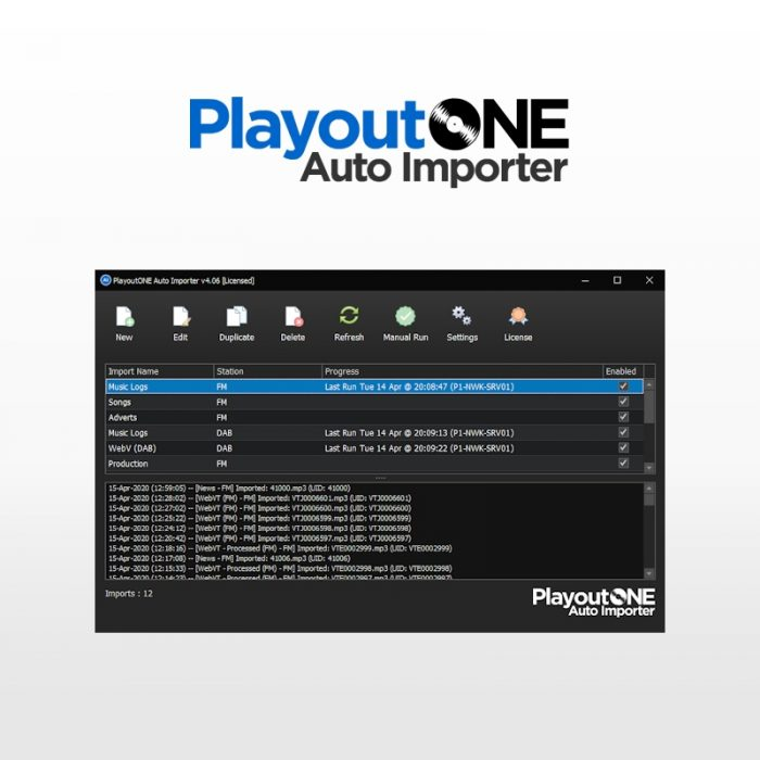 PlayoutONE Auto Importer