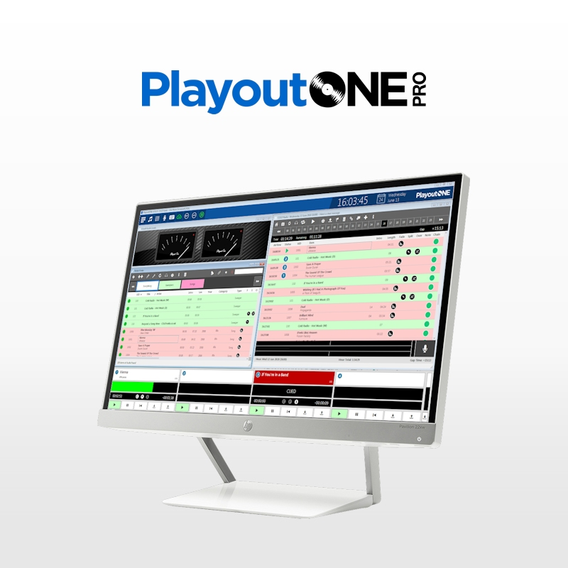 PlayoutONE Pro with WebVT web based voice tracking for Mac or PC
